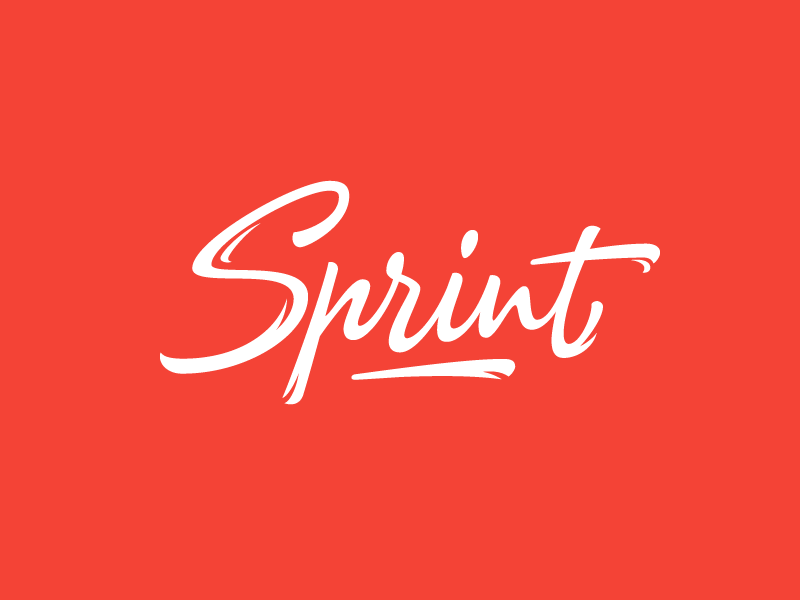Sprint lettering sign speed typography