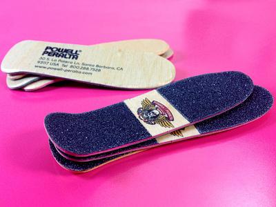 Powell Peralta Skateboard Business Cards die cut design business cards design business card business card design