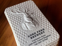 Embossed and Letterpress Lord Fern Business Cards