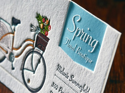 The Beauty of Letterpress illustration design branding logo letterpress cotton paper business cards design business cards typography business card business card design