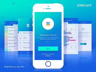 Zircuit interaction iphone ui ux screendesign app ios