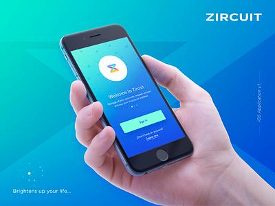 Zircuit 2 iphone 6 ui ux screendesign app ios