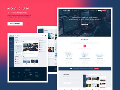 Movidiam Dashboard ux ui responsive homepage dashboard