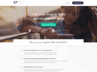 Efset homepage desktop