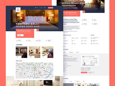 Mystays Premier   Residence I design web homepage screendesign startpage ux ui