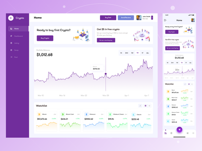 Crypto dashboard ui design clean ui design light design webapp data visualization digital dgpro app design website design uxdesign dailyui crypto wallet dashboard ui creative mobile ui ui design ui uidesign