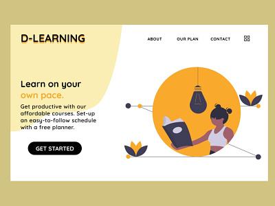 D-Learning 003 figmadesign 100daychallenge ui dailyui uidesign figma 100daysofui daily 100 challenge