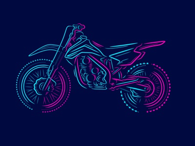 Trail Adventure Motocross silhouette brand logo rider mountain adventure bike trail motocross motorbike cartoon modern line art art vector colorful graphic color illustration design