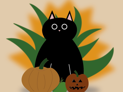 cat halloween 01 minimal illustrator art illustration flat