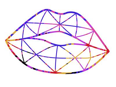 lips logo design illustration
