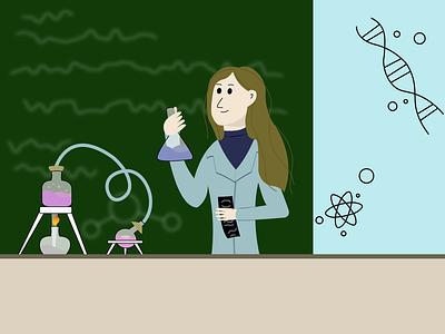 Chemistry lesson chemistry graphic design icon minimal vector art illustrator flat design illustration