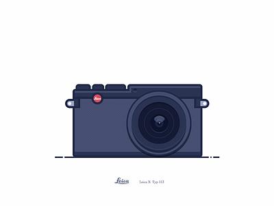 Leica X typ113_black vintage simple icon ui illustration m9 m8 camera x leica