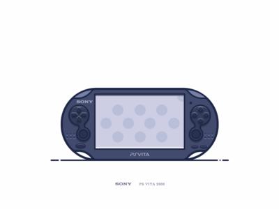 Psvita_black sony game psvita vita psv playstation illustrator vintage icon ui simple ps