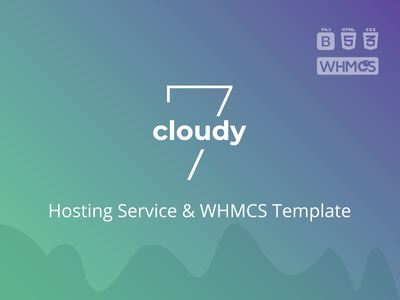 Cloudy 7 - Hosting Service & WHMCS Template svg bootstrap 4 html 5 css 3 whmcs responsive provider integration design domains hosting reseller vps hosting servers dedicated datacenter corporate cloud blog template