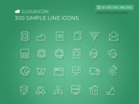 Cloudicon - 300 Simple Line icons