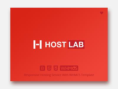 Hostlab - Responsive Hosting Service with WHMCS Template bootstrap 4 integration editable dedicated branding template whmcs design servers corporate blog domains reseller responsive provider html 5 datacenter css 3 hosting cloud