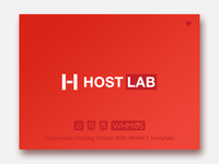 Hostlab - Responsive Hosting Service with WHMCS Template