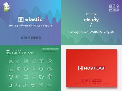 Hosting Template Collection illustration business dedicated integration datacenter bootstrap 4 html 5 css 3 whmcs template servers reseller provider domains blog responsive corporate hosting design cloud