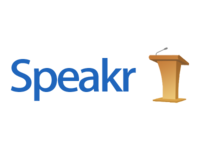 Speakr Logo Wooden Podium