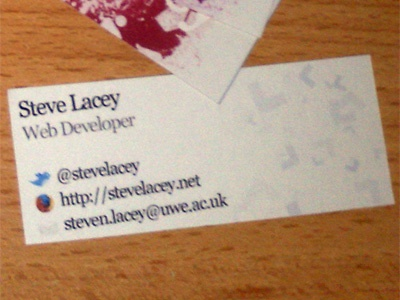 Legacy Business Card Back