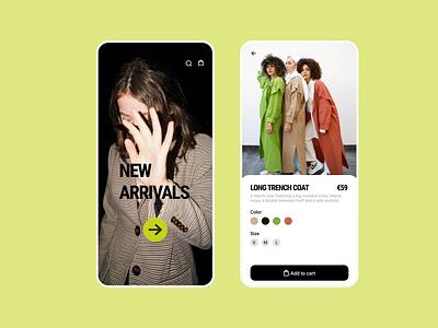 trench design vector green yellow fashion fashion app