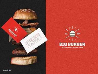 Big Burger | Branding identity black red illustration chicken beef fries burger fast food food icon brand design branding logo