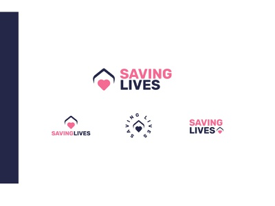 Saving Lives | Branding girl lady women lives saving pink non-profit charity ui illustration brand icon design branding logo