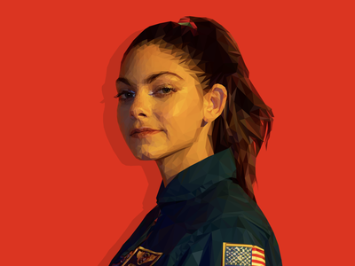 Alyssa Carson Low Poly Illustration astronaut nasa artwork lowpolyart vector low polygon illustration illustrator low poly visual design mars