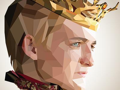 Kneel. Kneel before your king. ☠️ illustration vector illustration vector art vectorart vector gold baratheon game of thrones illustrator low polygon low poly