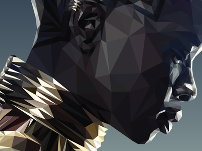 Guns. So primitive. ⚔️ design visual warrior power women vector illustration super hero low poly okoye black panther