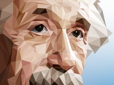 Einstein Low Poly vector art illustration design einstein low poly art low polygon low poly low