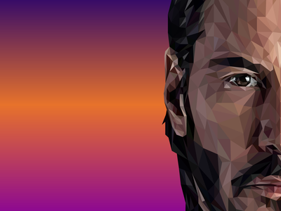 John Wick Low Poly visual vectorart vector low polygon low poly art lowpolyart low-poly low poly lowpoly low john wick johnwick illustrator illustration design