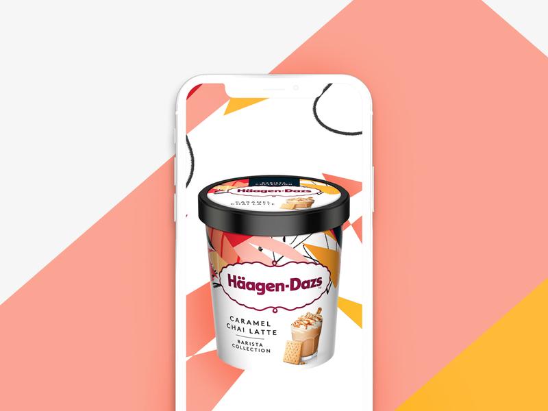 Häagen Dazs - Social Cups color drawing creative photoshop illustration design
