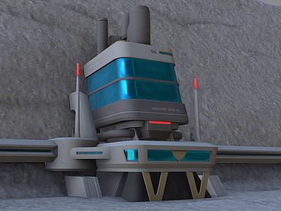 Moon base overwatch overwatch architecture substance painter game art blender3d adobe photoshop 3dmodels
