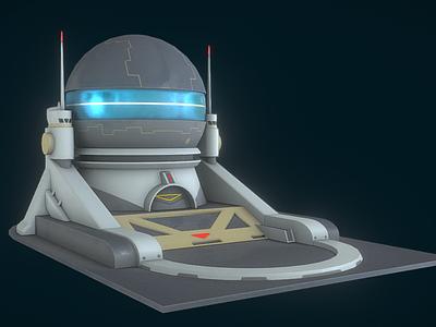 Moon base overwatch overwatch substance painter architecture blender3d adobe photoshop 3dmodels