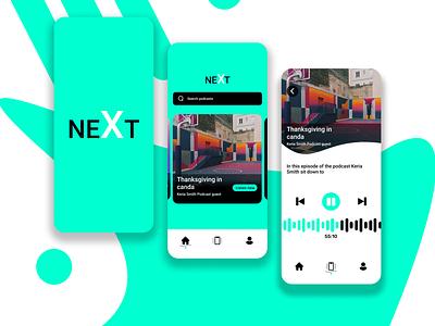 Podcast app graphic design animation ui