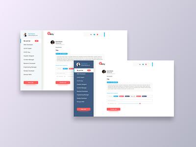Golably Job search dashboard ui kit ui elements uicomponent form sidebar design navigation joblistdesign adobexd createjob profile tag search jobs uidashboard uiux dashboard