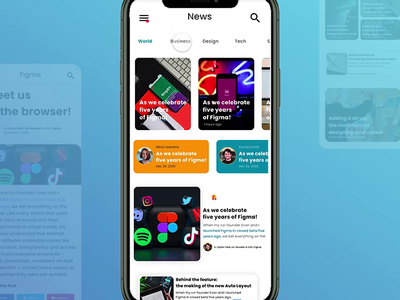 Decent News mobile app 📱 business blog post mobile ui mobile app prototype features news design newsletter newsfeed news app adobexd components sketchapp uidesign ui elements card app uiux design figma