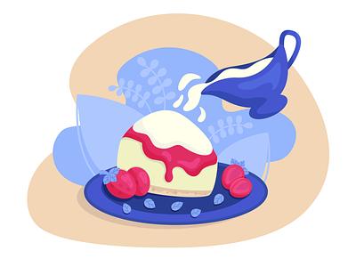 Сheesecake cake dessert cheesecake food art food illustration food design vector illustration vectorillustration vectorart illustration flat artwork art