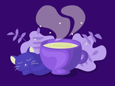 Cup of coffee cats cat and coffee cat coffee illustration coffee bean coffee cup cup of tea cup of coffee design vector illustration vectorillustration vectorart illustration flat artwork art