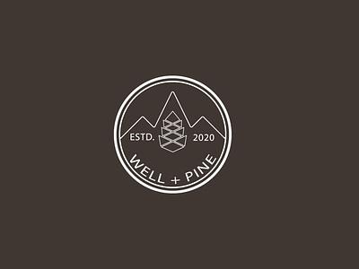 WELL  PINE logo illustration art creative design adobe branding photoshop illustration logo design illustrator graphic design