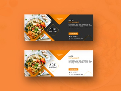 Web banner design - food restaurant infographicsmag silhouette brand identity typography favicon creative vector photoshop branding logo design illustrator graphic design illustration food restaurant banner design
