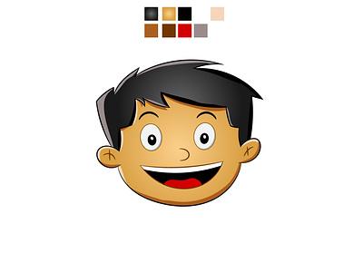 Cartoon face vector business card brand identity vector illustration art creative adobe photoshop photography branding logo design illustrator illustration graphic design