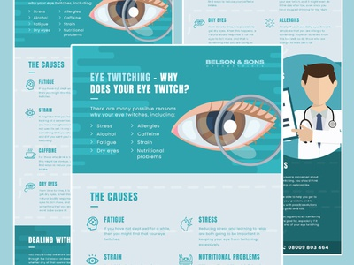 Belson & Sons Optician blog seo london essex eyecare opticians graphic design infographic