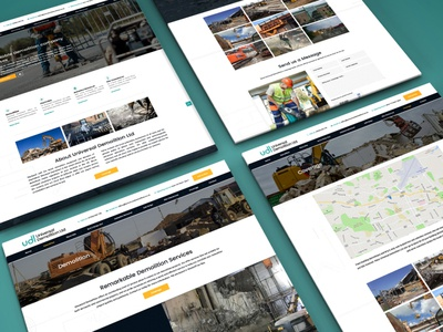 Universal Demolition 👷🏼‍♂️ essex demolition marketing branding website logo design website design