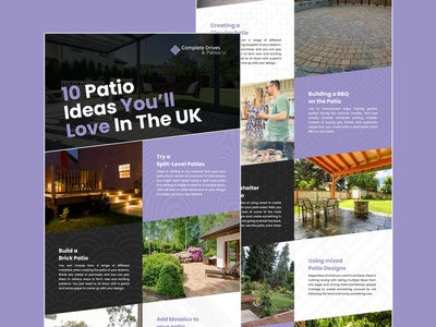 Patio Ideas UK infographic design essex graphicdesign patios