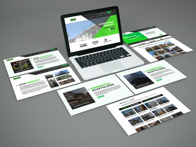 B-Mat Scaffolding NEW WEBSITE graphic design photoshop illustration branding marketing website web design design