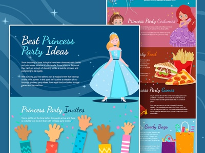 Princess Gatherings Post essex graphic design design party superhero princess infographic