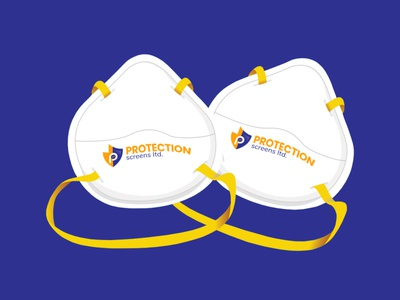 Protection Screens Logo designer website face masks covid 19 branding logo design