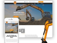 MEC Digger Hire marketing agency branding design logo design concept seo website design website